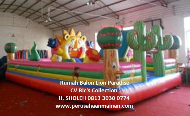 jual murah rumah balon 5x8 lion paradise istana balon import murah berkualitas