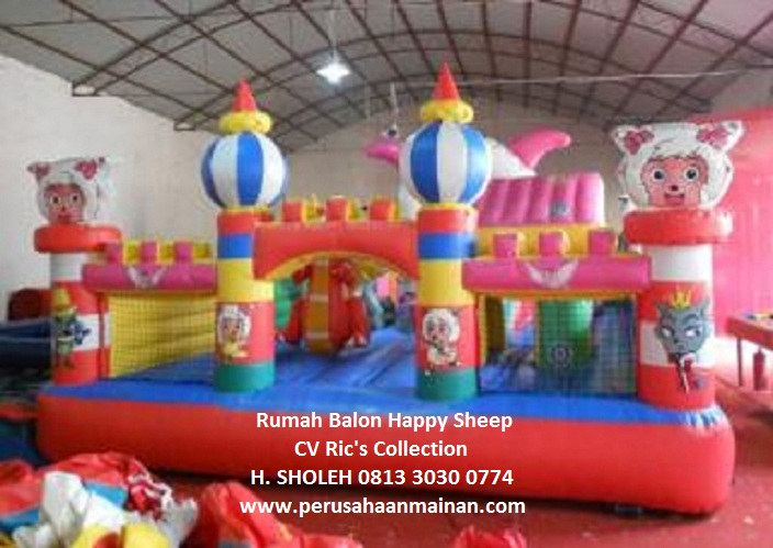 jual rumah balon istana balon 5x8 happy sheep harga murah