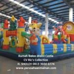 jual rumah istana balon weini castle 11x7 harga grosir murah rics collection